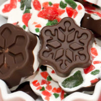 Peppermint Bark Snowflakes