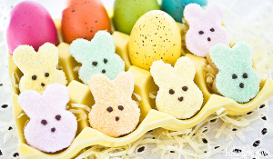 peeps shortbread bunnies