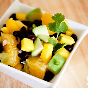 black bean, avocado & mango salsa