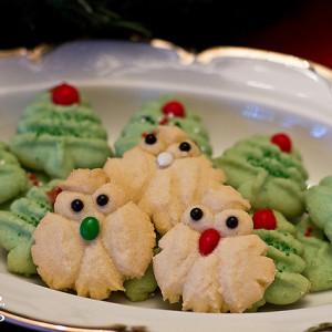 christmas owl spritz cookies