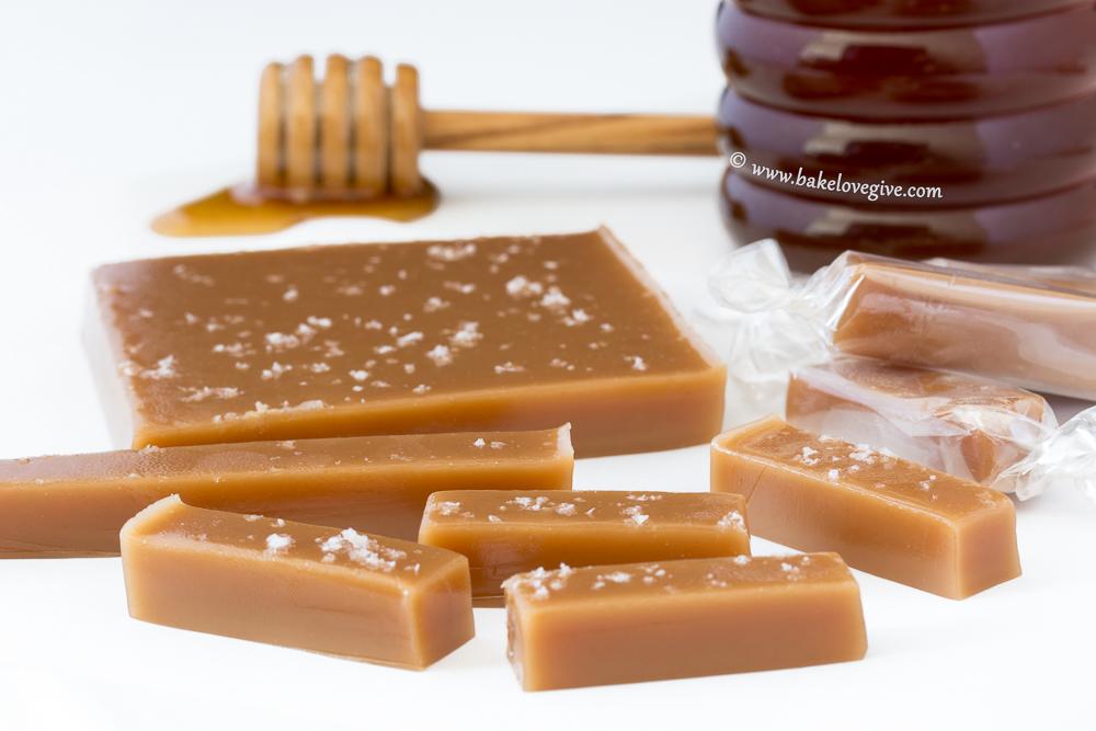 fleur de sel honey caramels - Bake Love Give