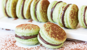 Chocolate Mint Macarons