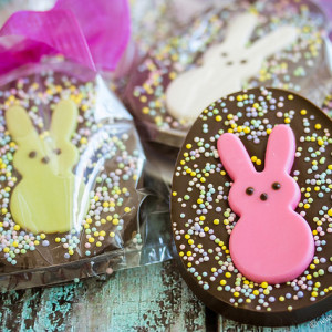 peeps chocolate speckled eggs