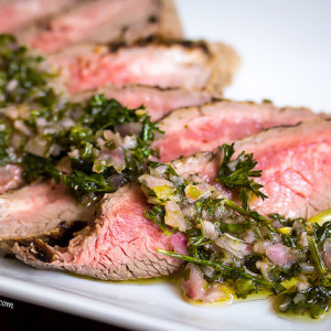 chimichurri grilled skirt steak