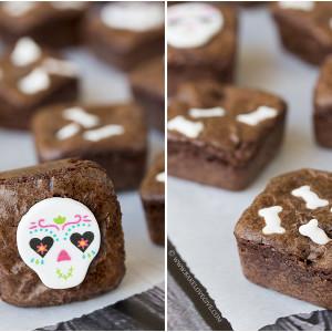 dia de los muertos brownie bites