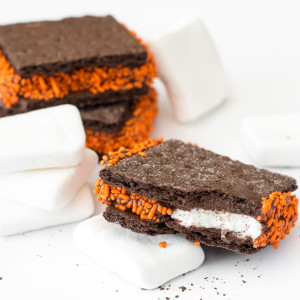 halloween chocolate s'mores cookies