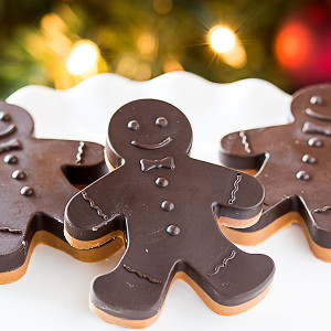 chocolate peanut butter gingerbread men
