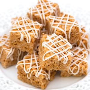 White Chocoalte Caramel Krispies Bites-2
