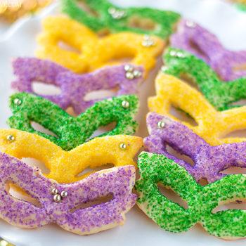 Mardi Gras Masquerade Sugar Cookies-2