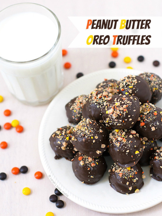 Peanut Butter Oreo Truffles - plus 6 delicious sweets for a virtual birthday party