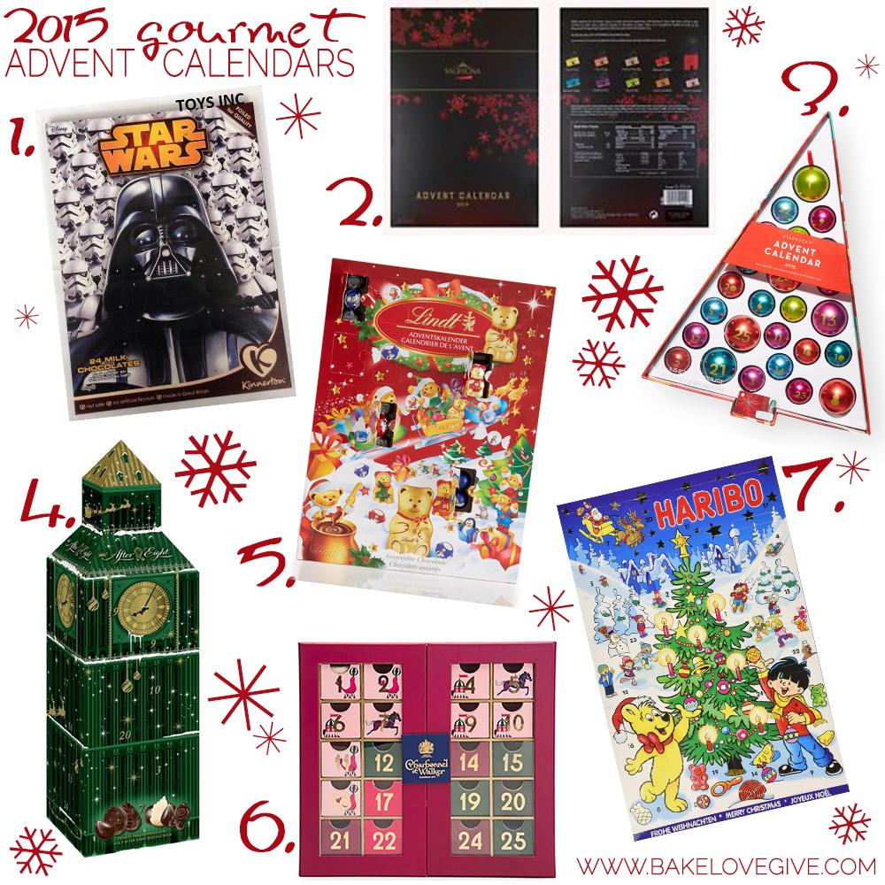 2015 gourmet advent calendars bake love give. Black Bedroom Furniture Sets. Home Design Ideas